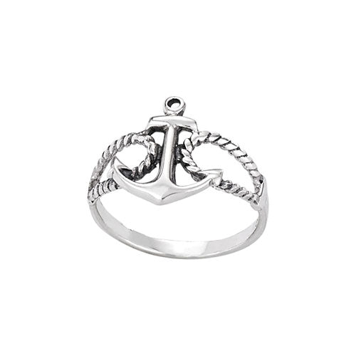 Anchor Silver Ring