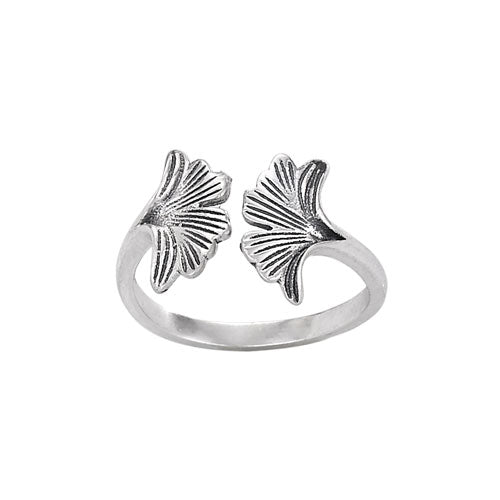 Ginko Leaf Silver Ring