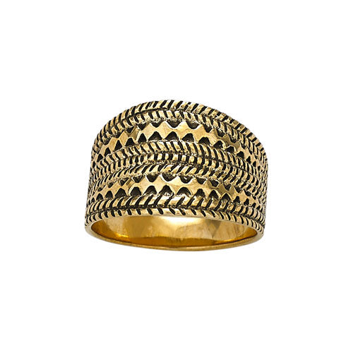 Patterned Bronze Ring