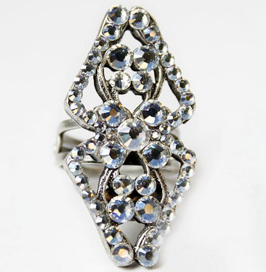 Art Deco Ring with Austrian Crystals