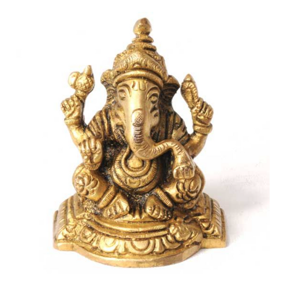 Brass Sitting Ganesha 3