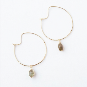 Fair Trade Labradorite Hoops
