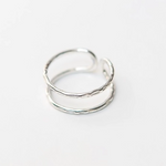 Illusion Silver Plated Ring