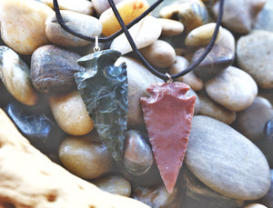 Gemstone Arrowhead Pendant