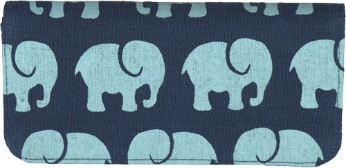 Long Wallet Navy Elephant