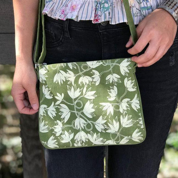 Green Vine Crossover Bag
