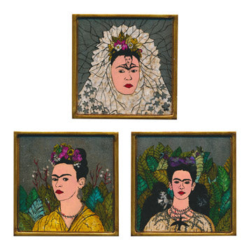 Frida Painted Mirror Tile