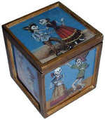 Painted Glass Skeleton Couple Box