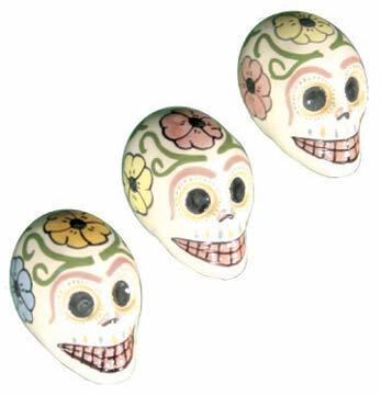 Mini Painted Pottery Skulls
