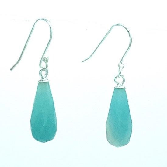 Amazonite Drop Silver Earring