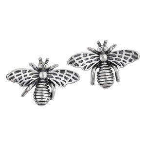 Bee Detailed Silver Stud Earring