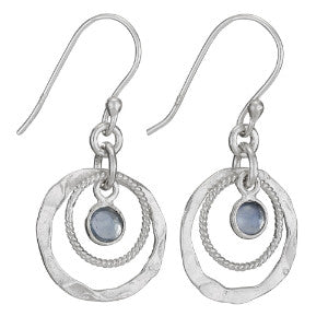 Apatite Drop Silver Earring