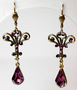 Viola Art Deco Purple Earring