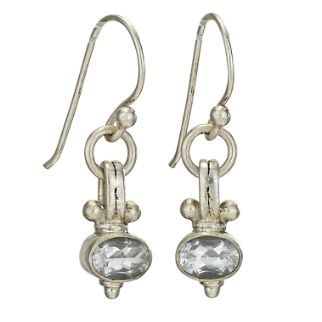 White Topaz and Silver Earring
