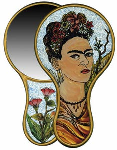 Frida Painted Foil Hand Mirror