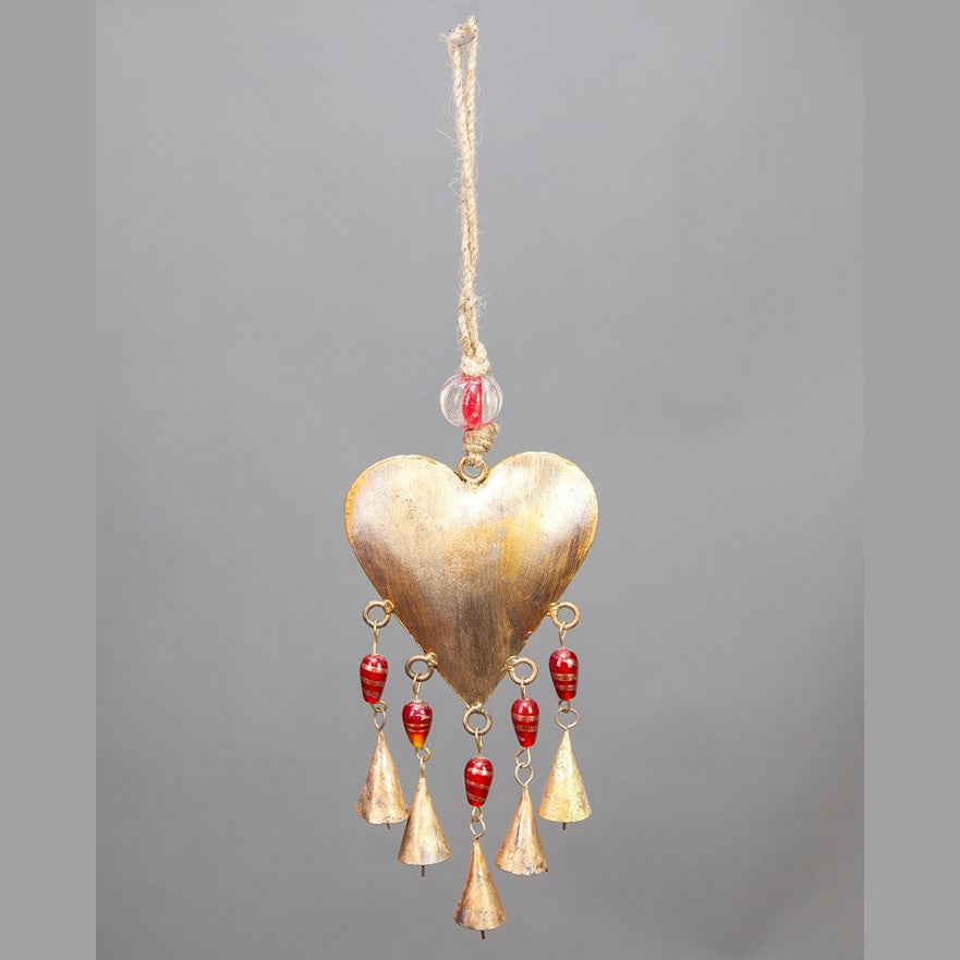 Heart Chime with Bells 9""