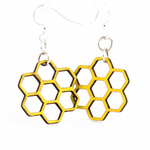 Honeycomb Sustainable Wood Earrings