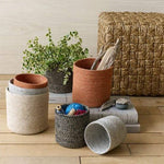 Woven Jute Baskets, Assorted Colors & Sizes