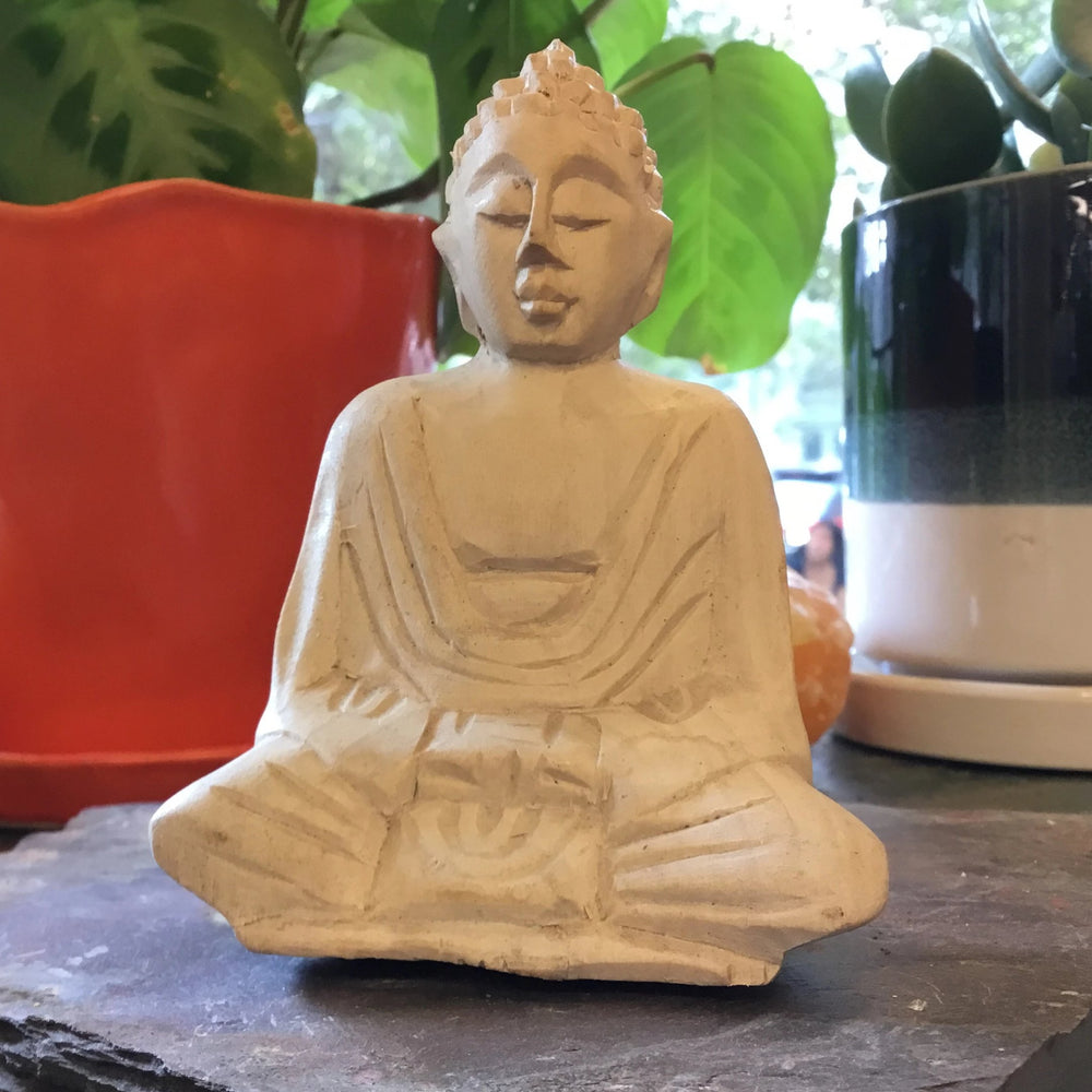 Buddha Sitting Hand-Carved  Wood