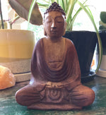 Buddha Hand Carved Wood 6""
