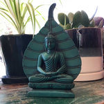 Buddha with Leaf Turquoise 6""