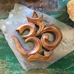 Om Hand Carved Wood Wall Decor