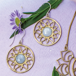 Radiating Sun Earring