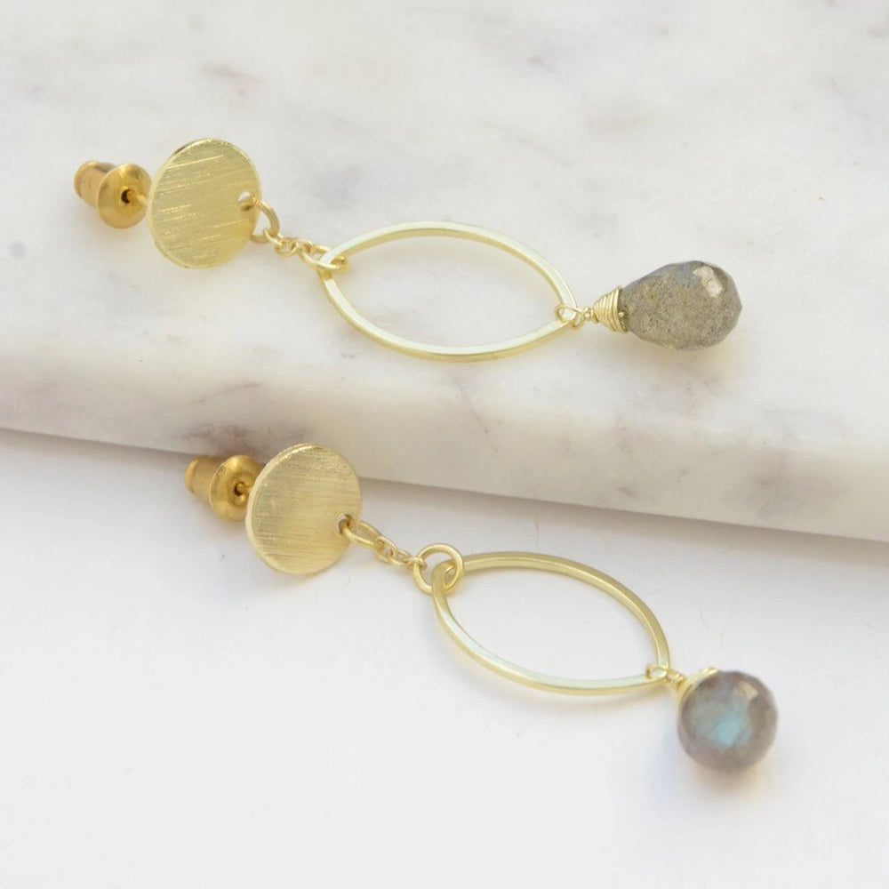 Fair Trade Labradorite Earring