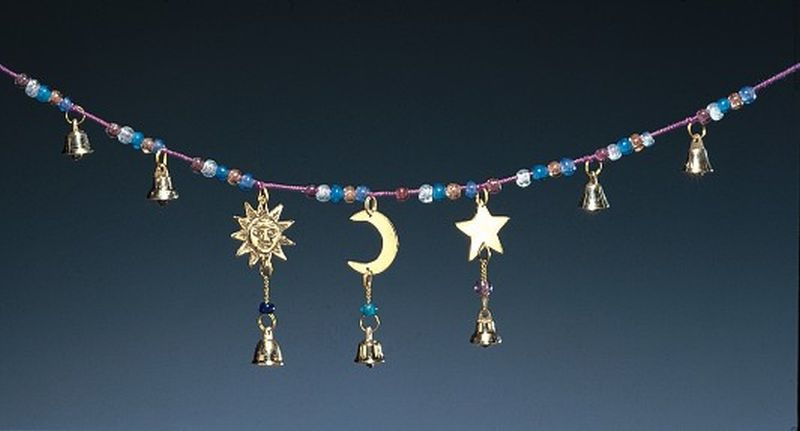 Bells with Sun, Moon, and Stars