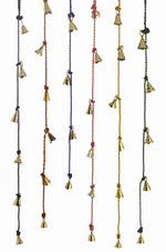 Brass Bells on Cord, Assorted