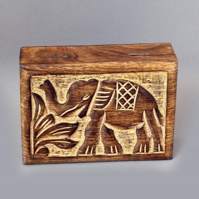 Elephant Wood Box