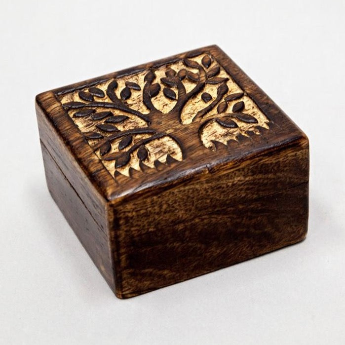 Tree of Life Wooden Box 4""