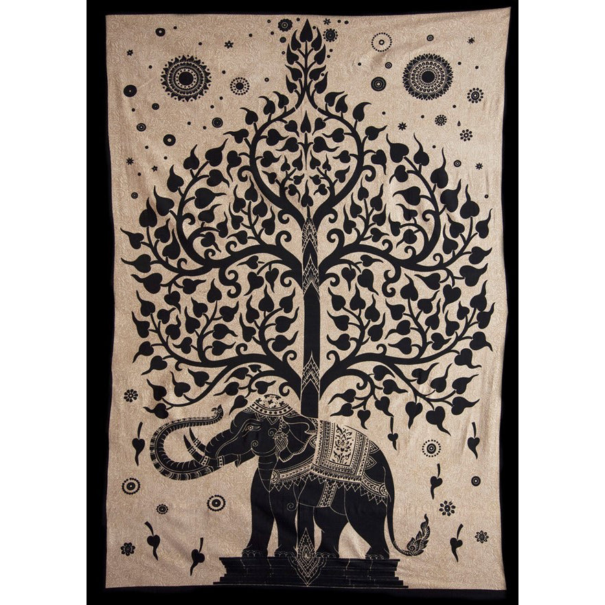 Elephant & Tree Tapestry