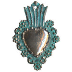 Copper Heart Ornament, 2.5""