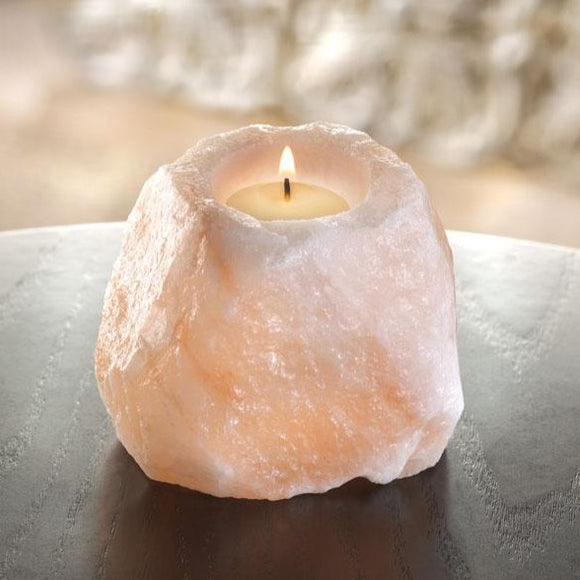 Rough Salt Tea light Lamp