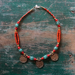 Nepalese Coin Necklace
