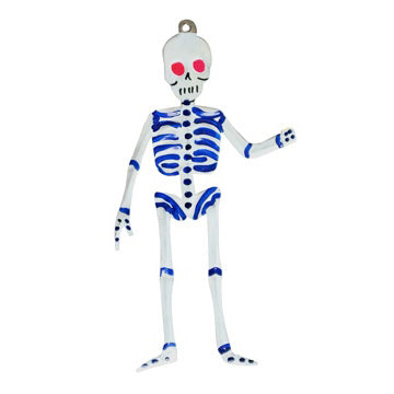 Standing Skeleton Tin Ornament