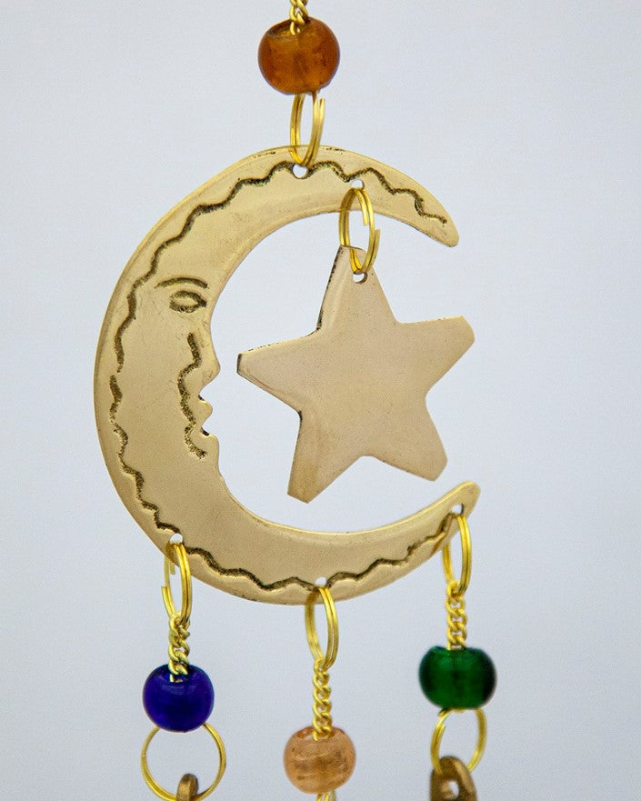 Moon & Star Chime with Beads