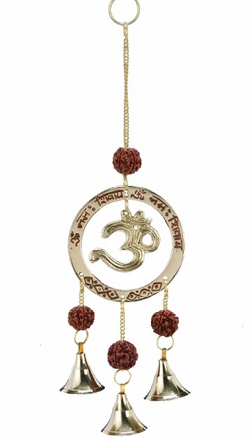 Brass Om With Beads And Bells