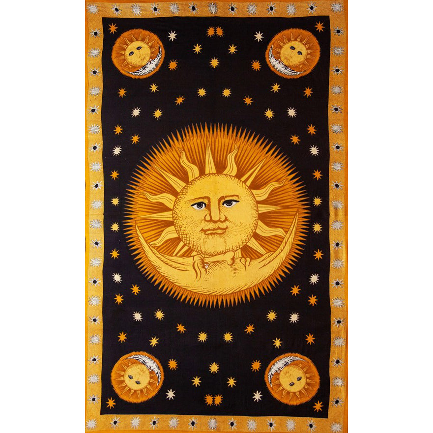 Solar Eclipse Moon & Sun Tapestry