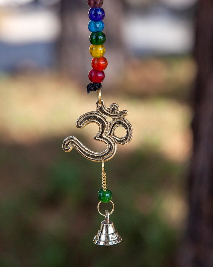 Om Chime with 7 Chakra Beads