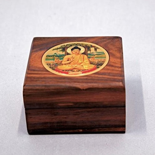 Wood Box with Buddha