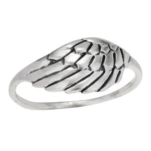 Single Wing Silver Ring