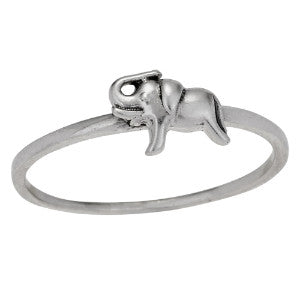 Lucky Elephant Silver Ring