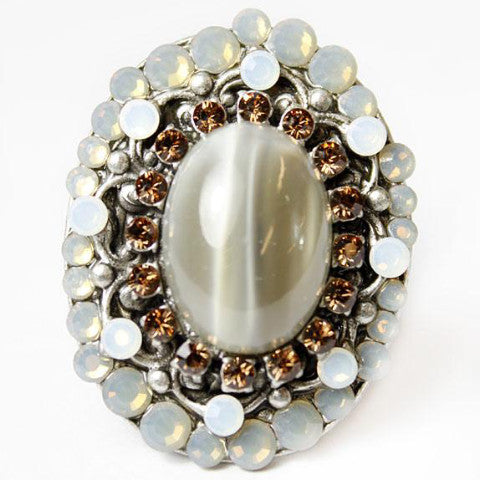 Goddess Ring with Austrian Crystals
