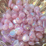 Tumbled Stone Aura Rose Quartz