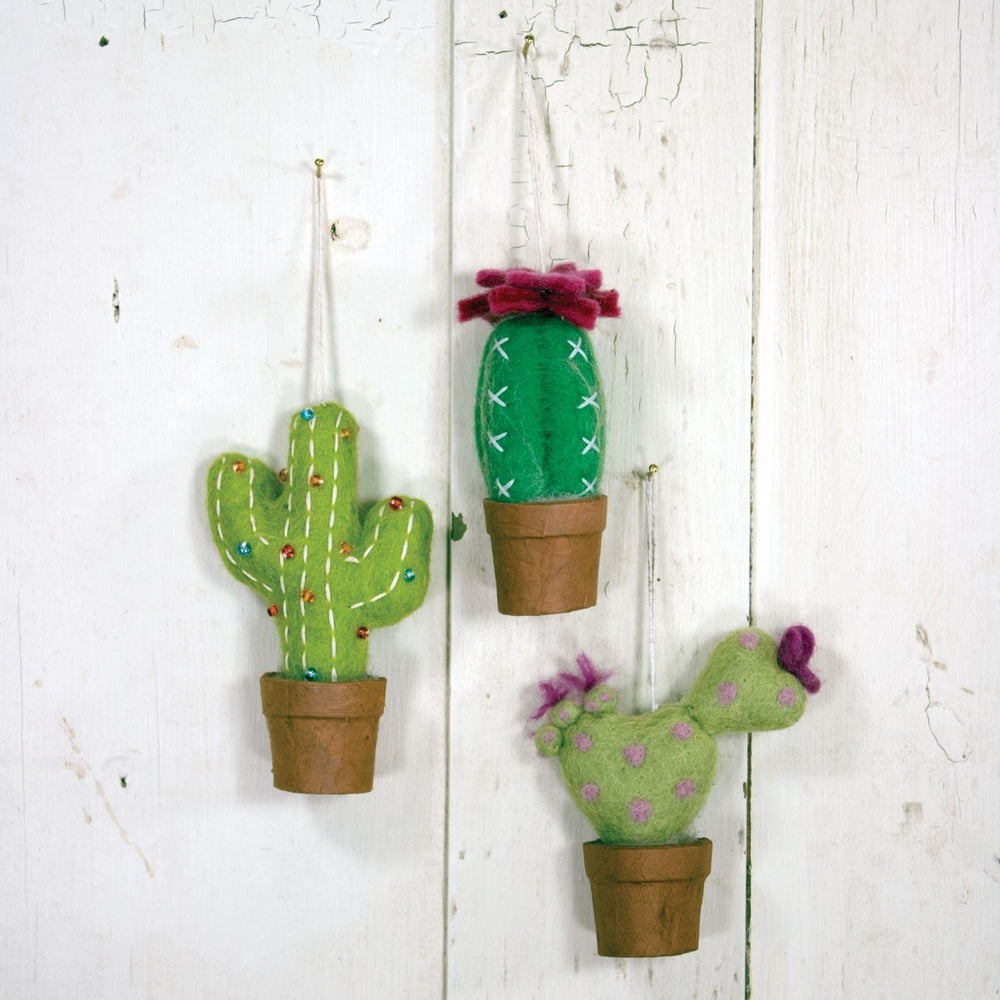 Fair Trade Love Cactus Ornament
