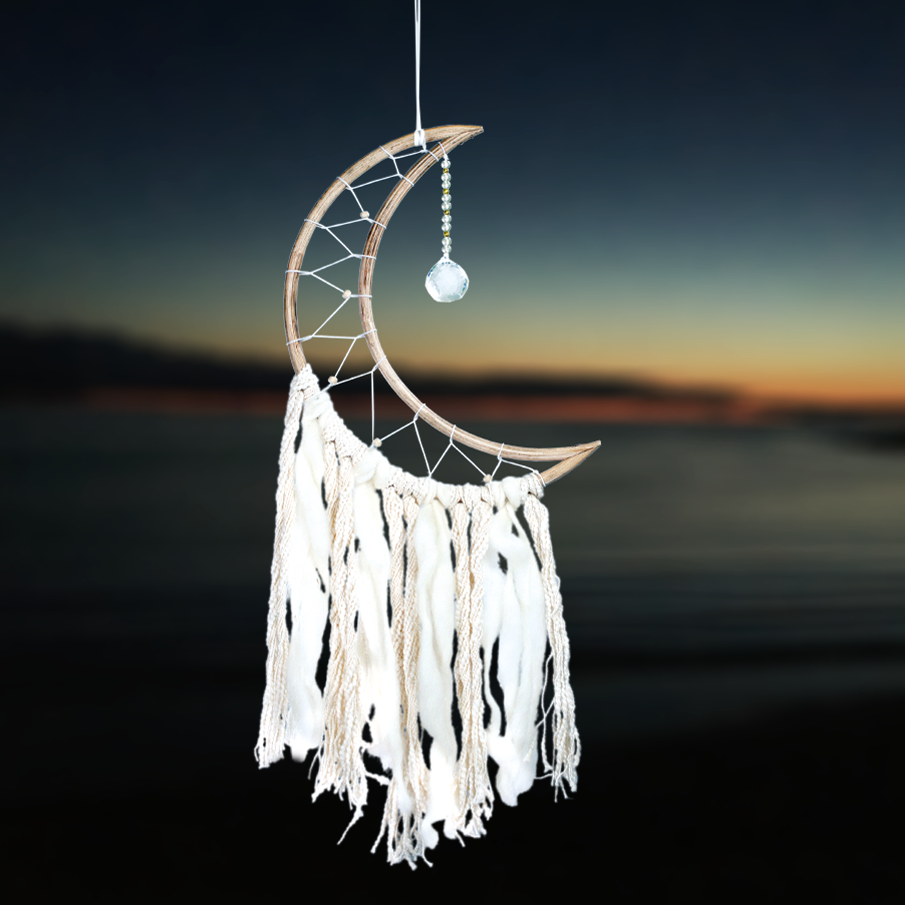 Fair Trade Small Moon Dreamcatcher