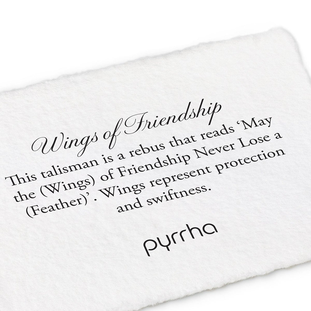 Pyrhha Wings of Friendship Silver Necklace
