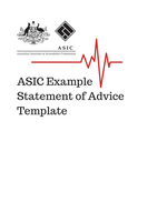 SoA Template - ASIC Sample Template